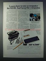 1981 Sinclair ZX80 Computer Ad - Learn How To Use