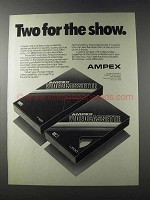 1981 Ampex VHS & Beta Videocassettes Ad - Two for Show