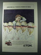 1981 TDK Super Avilyn Cassette Ad - Moment of Vision