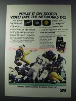 1981 3M Scotch Videocassettes Ad - The Networks Do