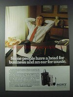 1981 Sony TCS-310 and M-1000 Stereo Cassette-corders Ad