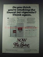 1981 Now Cigarettes Ad - Smoking the Lowest Tar