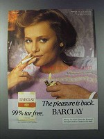 1981 Barclay Cigarettes Ad - Pleasure Back