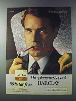 1981 Barclay Cigarettes Advertisement - The Pleasure is Back
