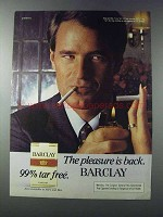 1981 Barclay Cigarettes Ad - The Pleasure is Back
