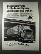 1981 ATA Great Dane Trailers Ad - Trucking Industry