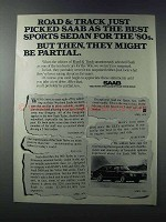 1981 Saab 900 Turbo Ad - Best Sports Sedan for '80s