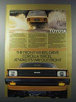 1981 Toyota Corolla Tercel Ad - Way Out Front