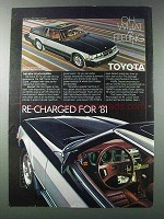 1981 Toyota Celica Supra Ad - Re-Charged