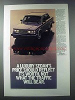 1981 Volvo GLE Car Ad - Price Should Reflect Worth