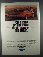 1981 Chevy Camaro Sport Coupe Ad - A Day on The Road