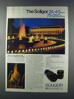 1981 Soligor 24-45mm and 75-250mm lenses Ad