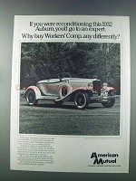 1981 American Mutual Ad - Reconditioning 1932 Auburn
