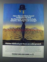 1981 Marine Midland Bank Ad - London Multinational
