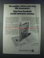 1981 The Bankers Life Ad - No Matter Where You Buy
