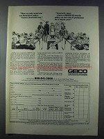 1981 Geico Insurance Ad - Only Need One Policy
