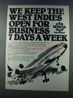 1981 BWIA Airline Ad - We Keep The West Indies Open