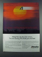 1981 Alitalia Airline Ad - Boeing 747-243B Joins Fleet