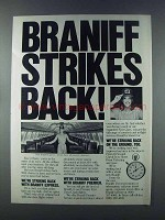 1981 Braniff Airlines Ad - Braniff Strikes Back!