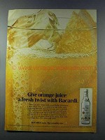 1981 Bacardi Rum Ad - Give Orange Juice a Fresh Twist