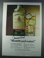 1981 Jameson Irish Whiskey Ad - And Water
