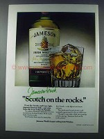 1981 Jameson Irish Whiskey Ad - On The Rocks