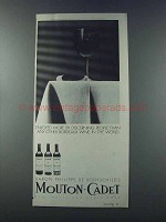 1981 Mouton-Cadet Wine Ad - Discerning People