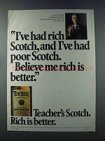 1981 Teacher's Scotch Ad - Rich and Poor