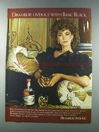 1981 Drambuie Liqueur Ad - Over Ice with Basic Black