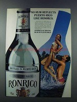 1981 Ronrico Rum Ad - Reflects Puerto Rico