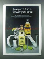 1981 Seagram's Extra Dry Gin Ad - Schweppes Tonic