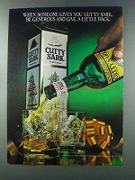 1981 Cutty Sark Scotch Ad - Be Generous Give Back