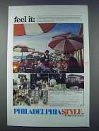 1981 Philadelphia Pennsylvania Tourism Ad - Feel It