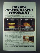 1981 Jenn-Air Dual Use Convection Oven Ad - Personality