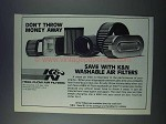 1981 K&N High-Flow Air Filters Ad - Don't Throw Money