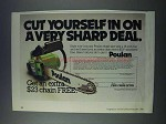 1981 Poulan Chain Saw Ad - A Very Sharp Deal