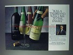1981 Bolla Trebbiano Wine Ad - Welcome to the Family