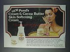 1981 Pond's Cream & Cocoa Butter Ad - Skin Softening