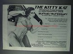 1981 Sunup / Sundown The Kitty Kat Swimsuit Ad