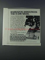 1981 Barbados Tourism Ad - The 8-Day Week