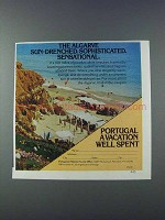 1981 Portugal Tourism Ad - The Algarve Sun-Drenched