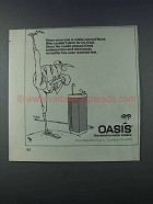 1981 Oasis Water Coolers Ad - A Rookie Named Wurst