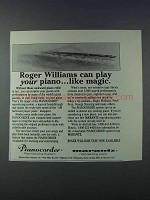 1981 Pianocorder Reproducing System Ad - Roger Williams
