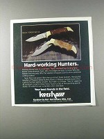 1981 Kershaw Knives Ad - Model 1040W and 1040B