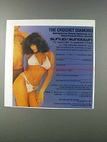 1981 Sunup / Sundown The Crochet Diamond Swimsuit Ad