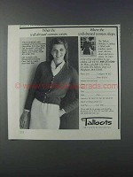 1981 Talbots Fashion Ad - Well-Dressed Woman
