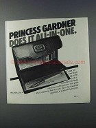 1981 Princess Gardner Checking Center Ad - All-in-One