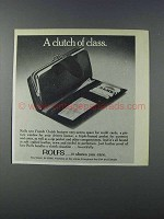1981 Rolfs French Clutch Ad - A Clutch of Class