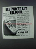 1981 The Sharper Image Webcor Telephone Ad