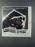 1981 TDK AD-C90 Cassettes Ad - Music Moved Us